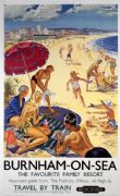 British Railways Vintage Travel poster: Burnham-On-Sea 'The favourite Family Resort. by Peter Wall